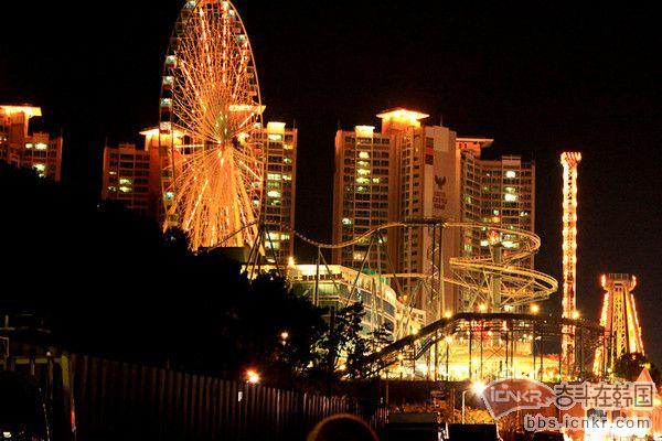 韩国夜晚风景图片