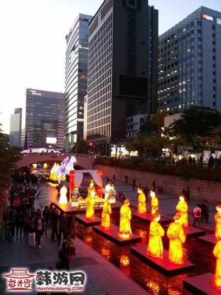 韩国晚上风景照