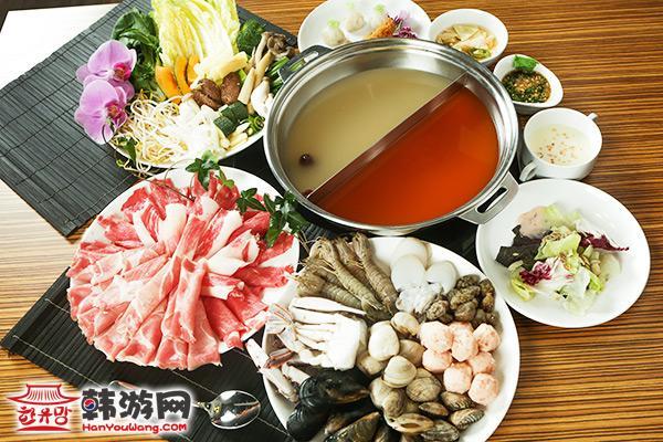 韩国济州岛天海天火锅自助餐厅